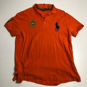 Polo by Ralph Lauren Orange Golf Shirt Polo Large